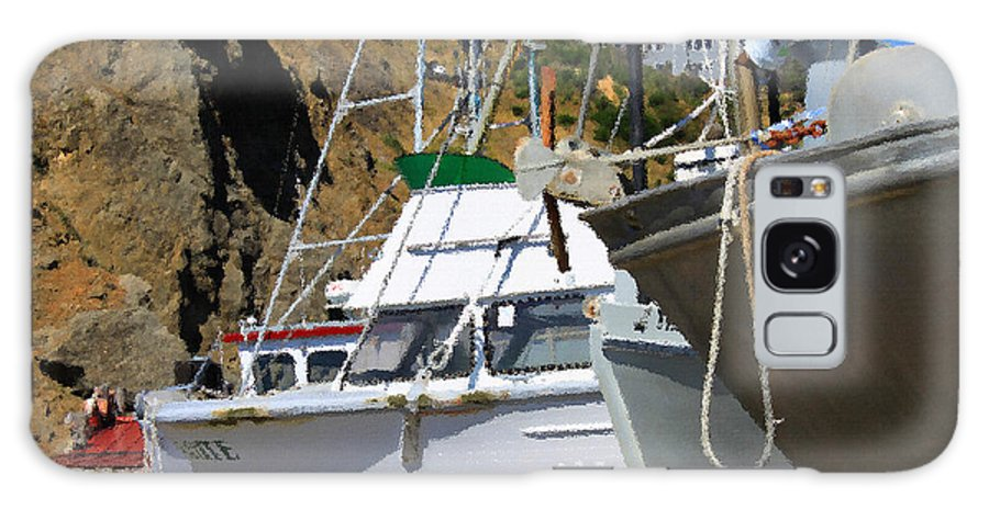 Anchor Galaxy S8 Case featuring the photograph Boats In Drydock by James Eddy
