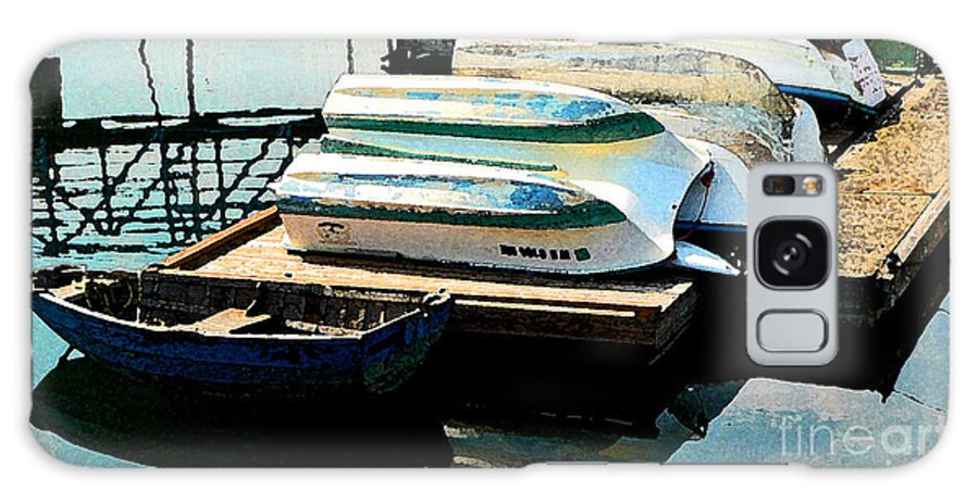 Boats Galaxy S8 Case featuring the photograph Boats In Waiting by Larry Keahey