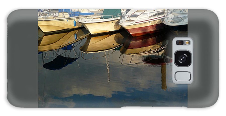Boats Galaxy S8 Case featuring the photograph Boats Reflected by Margie Avellino