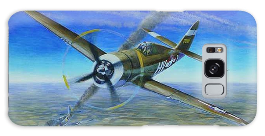 Bob Johnsons P-47 On October 10 Galaxy S8 Case featuring the painting Bob Johnsons Thunderbolt by Scott Robertson