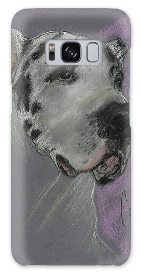 Great Dane Galaxy S8 Case featuring the drawing Bodhi's Mystique by Cori Solomon