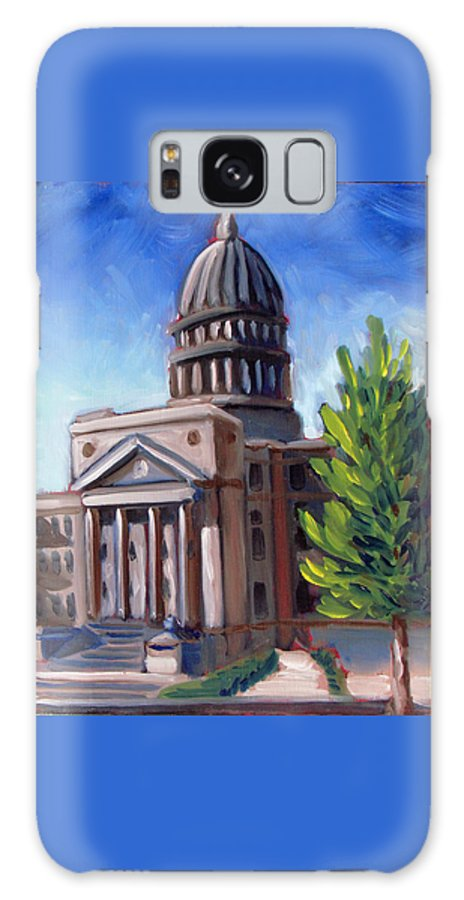 Boise Galaxy S8 Case featuring the painting Boise Capitol Building 01 by Kevin Hughes