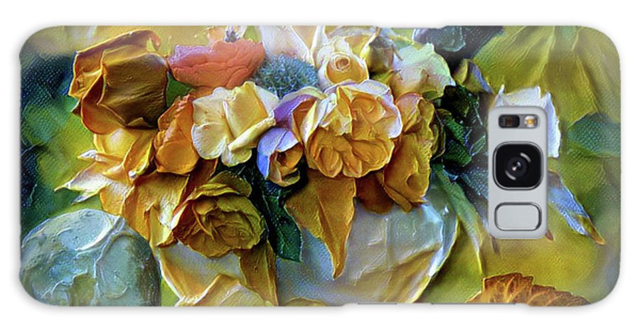 Bold Bouquet Galaxy S8 Case featuring the painting Bold Bouquet by Lilia D