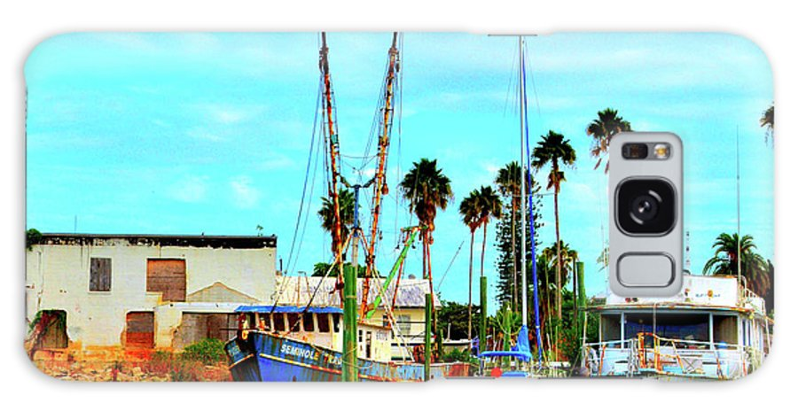 Old Boats Galaxy S8 Case featuring the photograph Bold Ship Placida Fl by Alison Belsan Horton