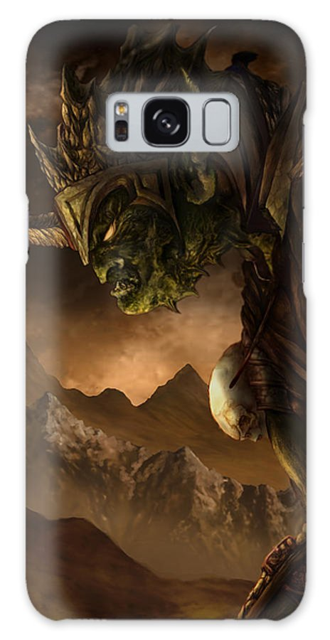 Goblin Galaxy Case featuring the mixed media Bolg The Goblin King by Curtiss Shaffer