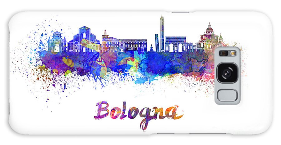 Bologna Galaxy S8 Case featuring the painting Bologna Skyline In Watercolor by Pablo Romero