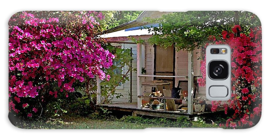 Fairhope Galaxy S8 Case featuring the digital art Bon Secour Pink Porch by Michael Thomas