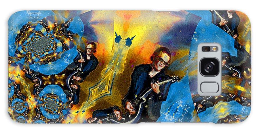 Music Galaxy S8 Case featuring the painting Bonamassa Mania by Miki De Goodaboom