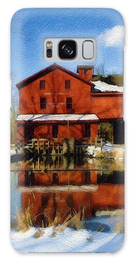 Bonneyville Mill Galaxy S8 Case featuring the photograph Bonneyville In Winter by Sandy MacGowan