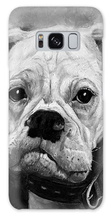 Boxer Galaxy S8 Case featuring the painting Boo The Boxer by Portraits By NC