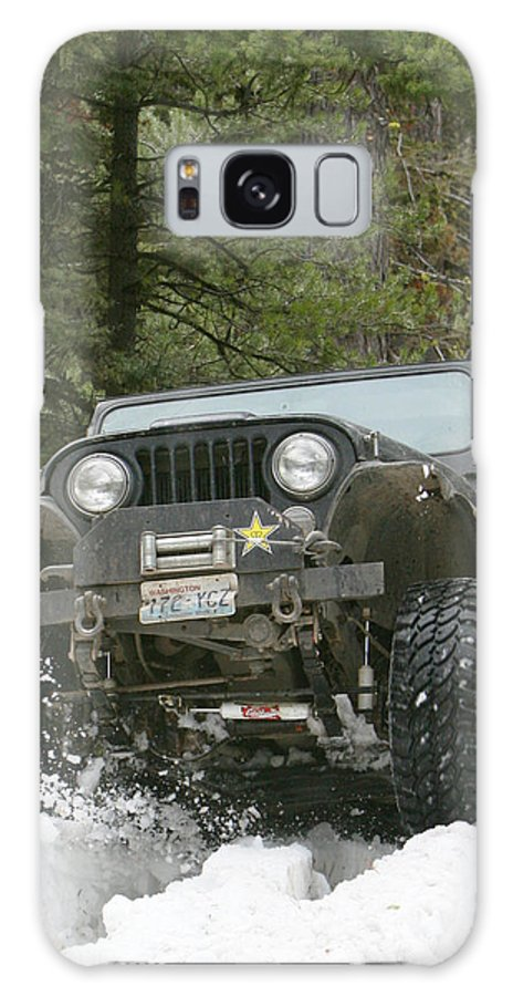 Jeep Galaxy S8 Case featuring the photograph Booger On The Trail by JoJo Photography