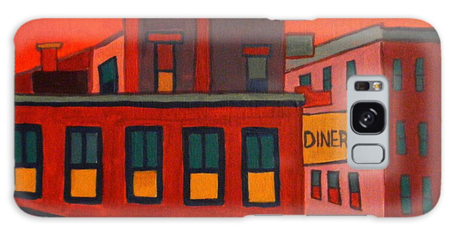 Landscape Galaxy S8 Case featuring the painting Boonton Diner by Debra Bretton Robinson
