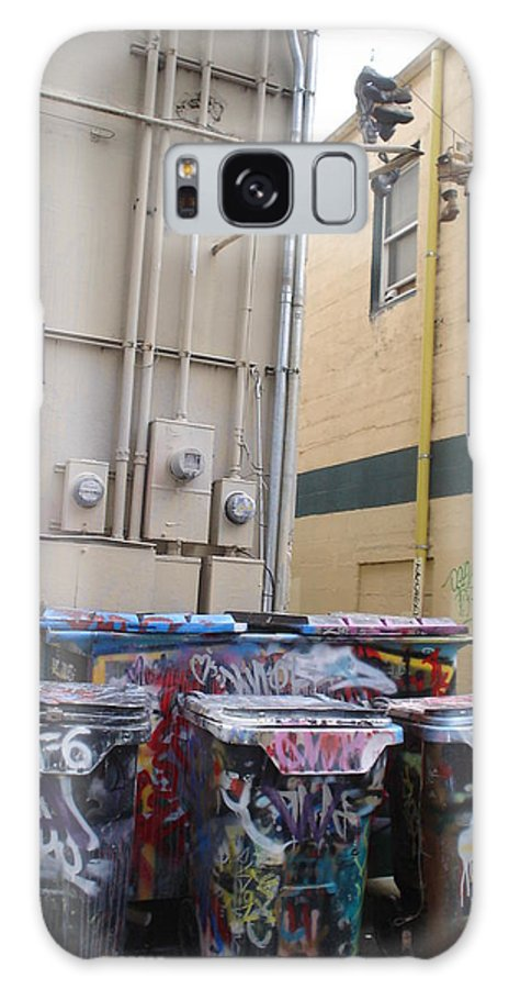 Urban Art Galaxy Case featuring the photograph Boots On A Wire by Chandelle Hazen