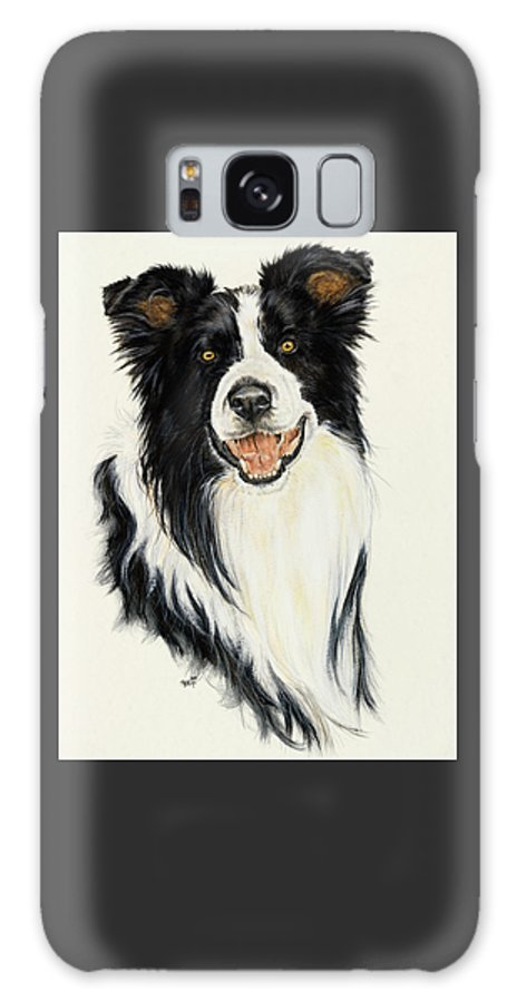 Collie Galaxy S8 Case featuring the painting Border Collie by Barbara Keith