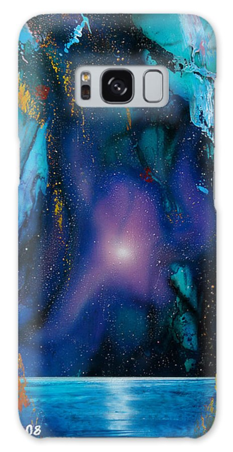 Nebula Caribe Galaxy Case featuring the painting Borealis by Angel Ortiz