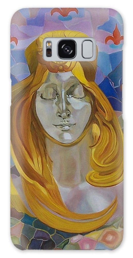 Figurative Galaxy S8 Case featuring the painting Born-after Mucha by Antoaneta Melnikova- Hillman