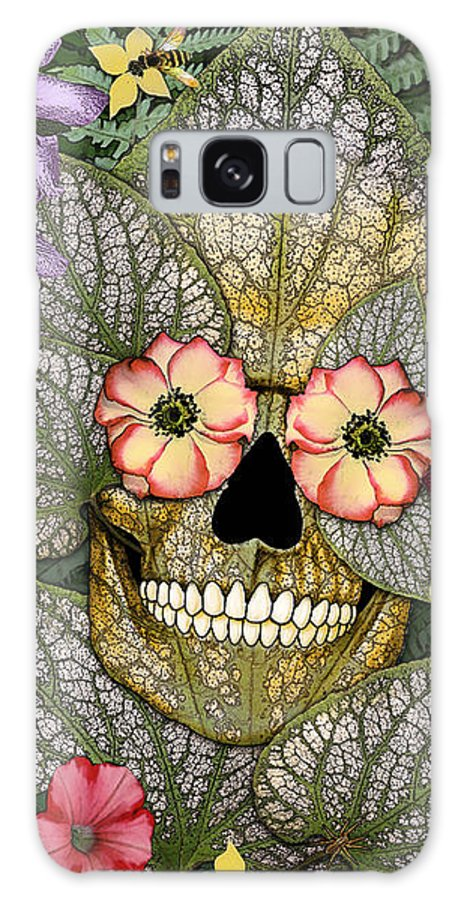 Sugar Skull Galaxy S8 Case featuring the photograph Born Again by Christopher Beikmann