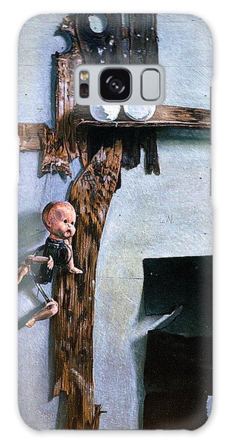 Born Again Galaxy S8 Case featuring the painting Born Again by John Lautermilch
