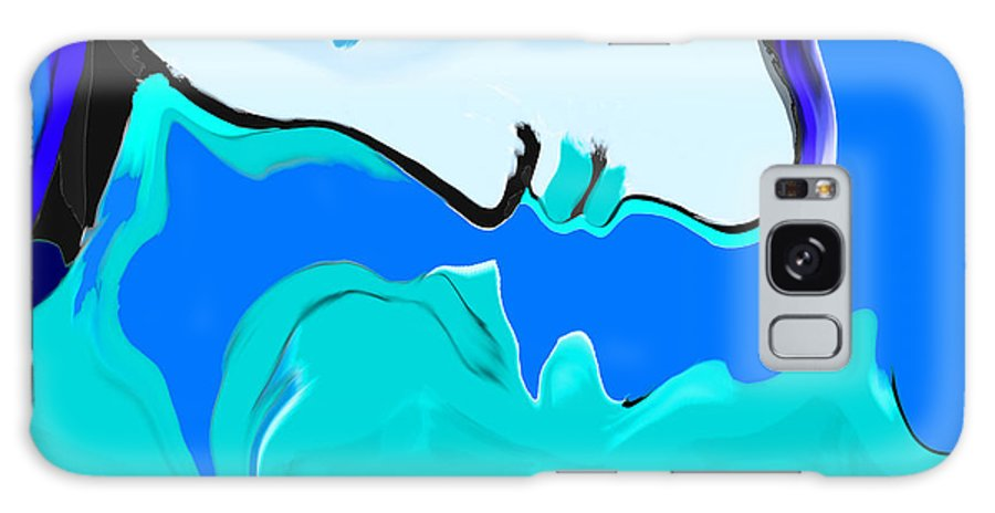 Woman Galaxy S8 Case featuring the painting Born Of The Ocean by Abstract Angel Artist Stephen K