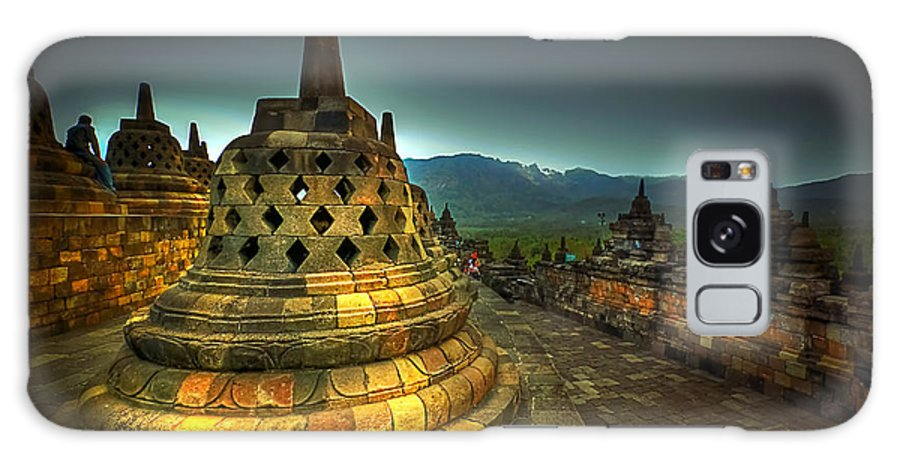Borobudur Temple Galaxy S8 Case featuring the photograph Borobudur Temple Central Java by Charuhas Images