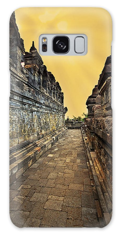 Galaxy S8 Case featuring the photograph Borobudur Temple by Charuhas Images
