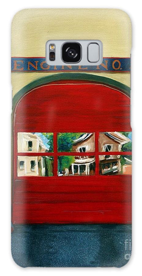 Fire House Galaxy Case featuring the painting Boston Fire Engine 21 by Paul Walsh