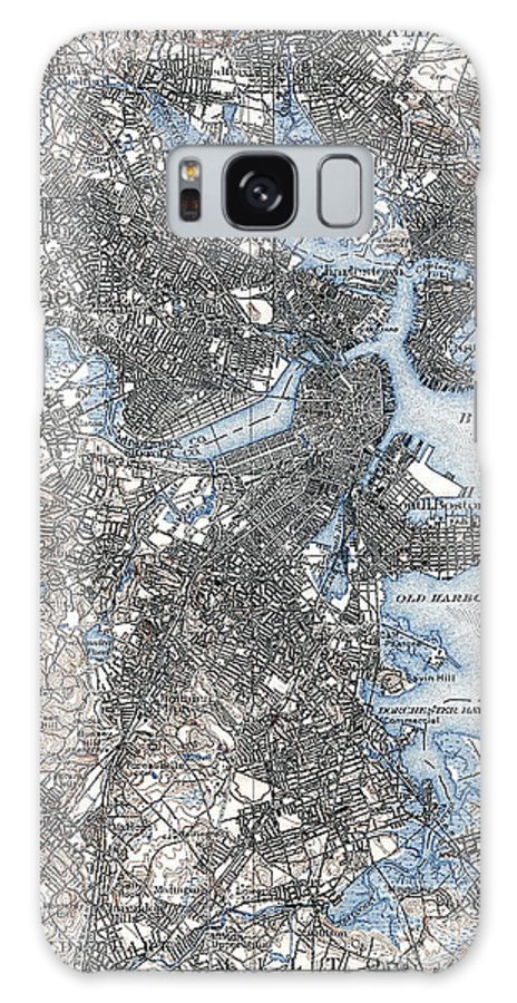 1903 Galaxy S8 Case featuring the photograph Boston Map, 1903 by Granger