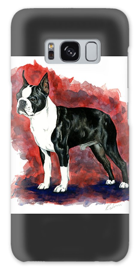 Art Galaxy Case featuring the painting Boston Terrier by Kathleen Sepulveda