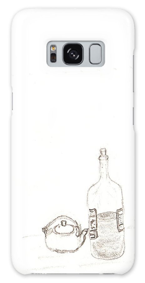 Drawing Galaxy S8 Case featuring the drawing Bottle And Pot by Ana Aguiar