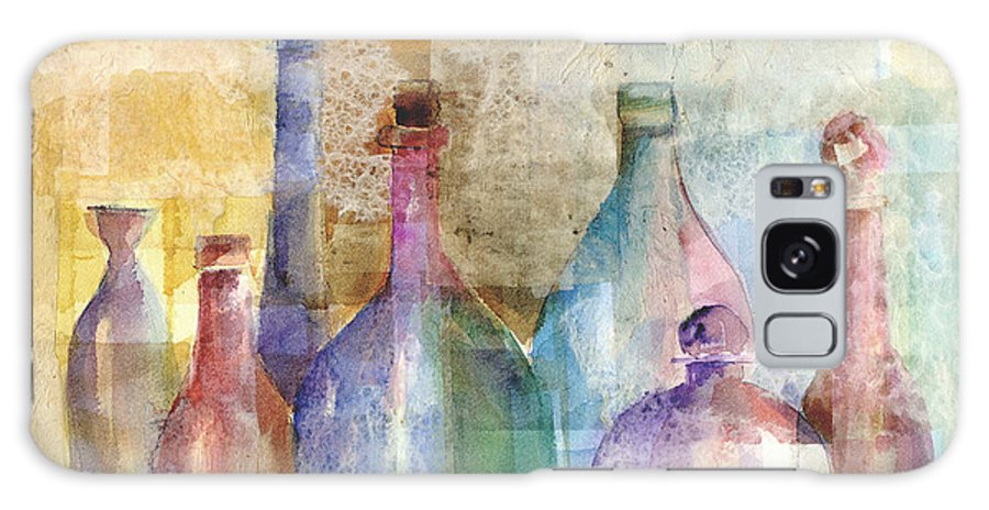Bottle Galaxy S8 Case featuring the mixed media Bottle Collage by Arline Wagner