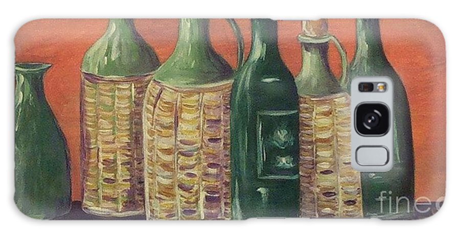 Bottle Galaxy Case featuring the painting Bottles by Jeanie Watson