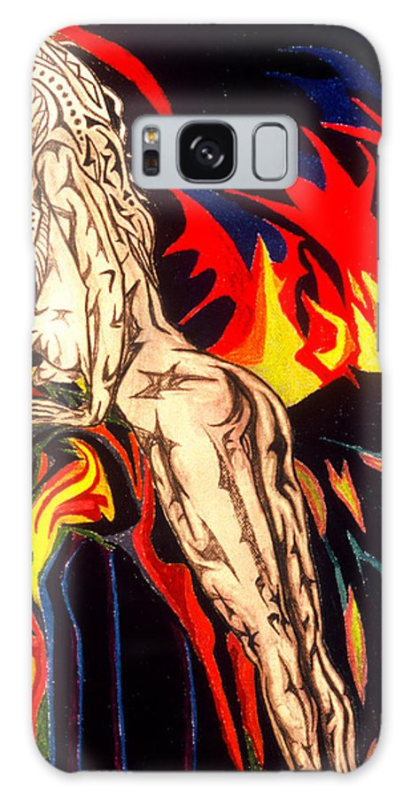 Female Nude Galaxy S8 Case featuring the painting Bottoms Up by Robert SORENSEN