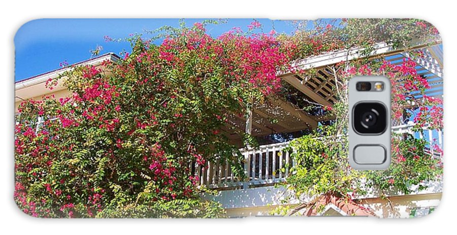 Flowers Galaxy S8 Case featuring the photograph Bougainvillea Villa by Debbi Granruth