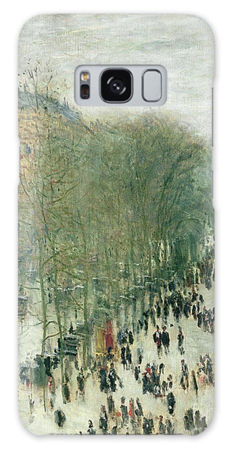 Boulevard Galaxy S8 Case featuring the painting Boulevard Des Capucines by Claude Monet