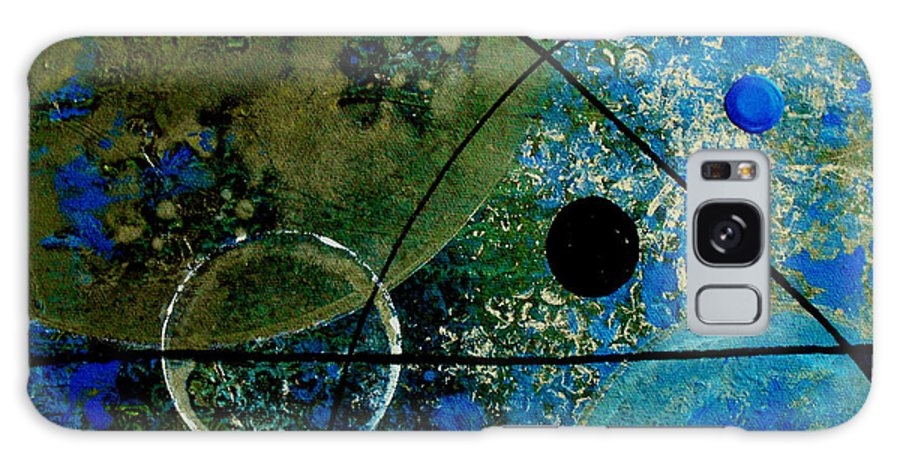 Abstract Galaxy Case featuring the painting Bouncer by Ruth Palmer