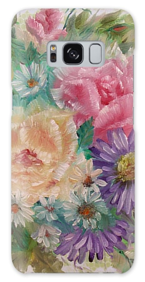 Rose Galaxy S8 Case featuring the painting Bouquet 2 by Quwatha Valentine