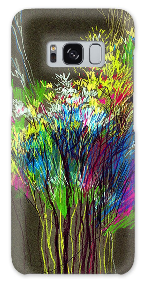Flowers Galaxy Case featuring the painting Bouquet by Anil Nene