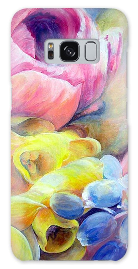 Flower Galaxy Case featuring the painting Bouquet by Muriel Dolemieux