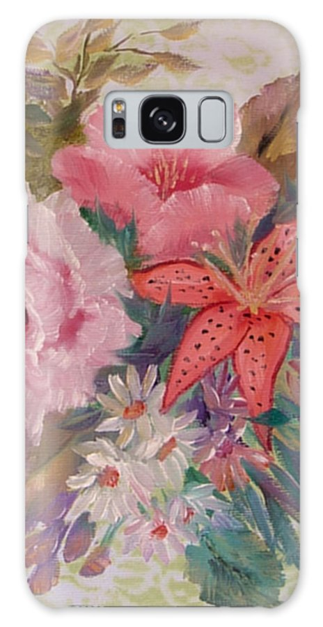 Rose Galaxy Case featuring the painting Bouquet by Quwatha Valentine