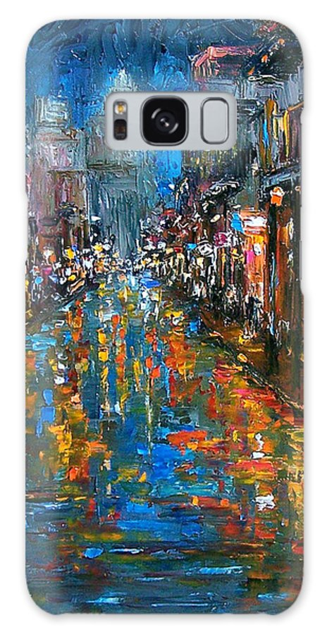 New Orleans Galaxy S8 Case featuring the painting Bourbon Street Blues by Debra Hurd