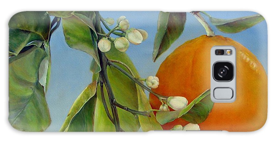 Floral Painting Galaxy Case featuring the painting Boutons d Oranges by Muriel Dolemieux
