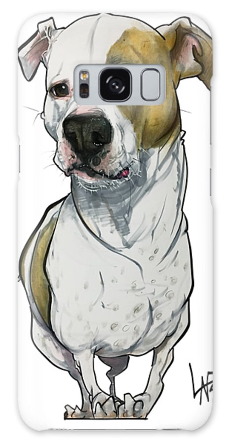 Pet Portrait Galaxy S8 Case featuring the drawing Bowie 3374 1 by John LaFree