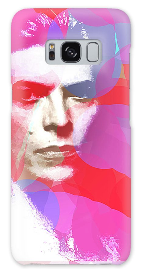 Bowie Galaxy S8 Case featuring the mixed media Bowie 70s Chic by Enki Art