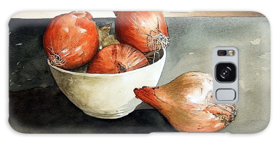 Still Life Galaxy S8 Case featuring the painting Bowl of Onions by Paul Dene Marlor
