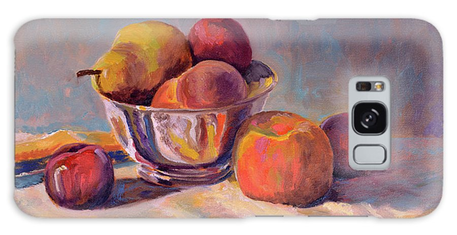 Still Galaxy S8 Case featuring the painting Bowl With Fruit by Keith Burgess