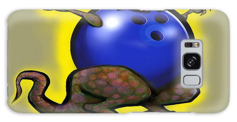 Bowl Galaxy S8 Case featuring the digital art Bowling Beast by Kevin Middleton