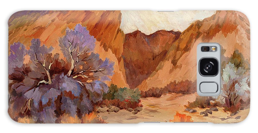 Box Canyon Galaxy S8 Case featuring the painting Box Canyon by Diane McClary