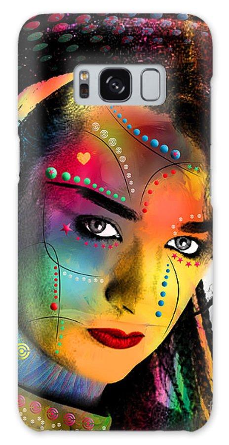 Boy George Galaxy Case featuring the digital art Boy George by Mark Ashkenazi