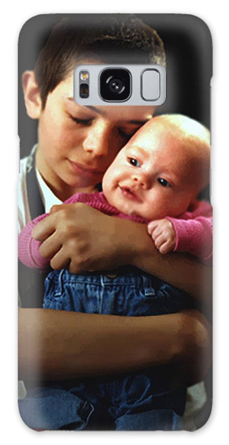 Children Galaxy S8 Case featuring the photograph Boy With Bald-headed Baby by RC DeWinter