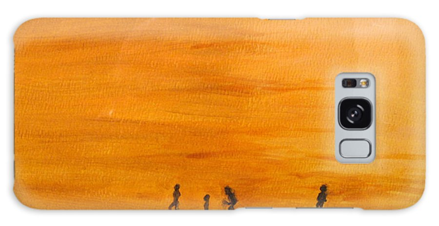 Boys Galaxy S8 Case featuring the painting Boys At Sunset by Ian MacDonald